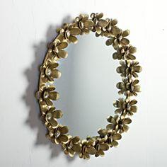 Iron Flower Brass Mirror Frame (India)