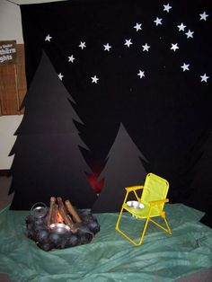 ⭐️ in the sky camping ⛺️ dramatic play Vbs Themes, Classroom Themes, Vbs Crafts, Camping Crafts, Camp Out Vbs, Bible School Crafts, Church Activities, Vacation Bible School, Camping Theme