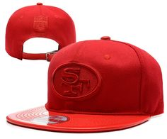 NFL SAN FRANCISCO 49ERS Strapback New Era 9FIFTY Hats All Red Leather Brim  163 cfd47877449e