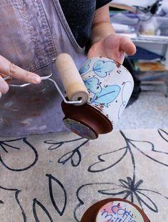 Drawn and Transferred Ceramic Arts Network ceramicart Ceramic Techniques, Pottery Techniques, Pottery Tools, Pottery Art, Pottery Clay, Slab Pottery, Crackpot Café, Ceramic Arts Daily, Pottery Lessons