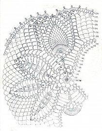 shema salfetki s tyulpanami Crochet Motif, Crochet Designs, Crochet Doilies, Doily Patterns, Sewing Patterns, Crochet Patterns, Pineapple Crochet, Z Photo, Crochet Projects