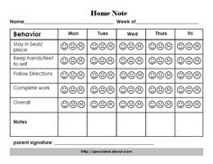 A Home Note Program to Support Positive Behavior