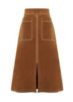 M&S autograph tan suede skirt. Will be copying this for sure