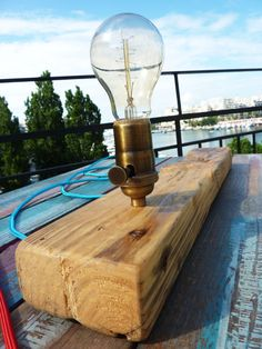Long. Unique handcrafted table lamp made from by QrtosCreations