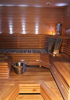 k o t i p o r s t u a Sauna Ideas, Finnish Sauna, Sauna Room, Saunas, Home Spa, Extra Seating, Benches, Simple Designs, Baths