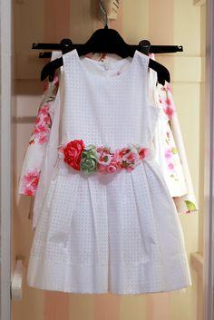 @monnalisaspa white dress with flowers #monnalisa #SS15 #spring #summer…