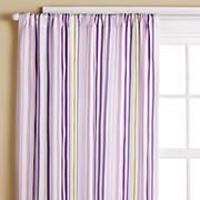 Girls Purple Striped Curtain Panels - $29
