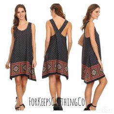 """100% Polyester- Comes in S, M, L.    Small fits up to size 6 and approximately 37"""" long.    Medium fits up to size 10 and approximately 37.5"""" long.    Large fits up to size 14 and approximately 38"""" long.        $31 with FREE SHIPPING in the US!! 