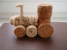 A small souvenir - Dream Train made of wine and champagne corks.
