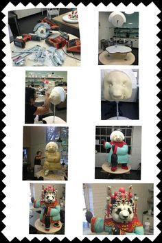 making of panda cake .. by karen portaleo