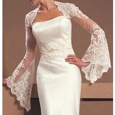 Wedding Accessories Lace Bridal Jacket Bolero/Shrug/Wrap For Wedding Dress Wedding Dress Bolero, Bridal Bolero, Wedding Jacket, Wedding Gowns, Lace Wedding, Elegant Wedding, 2017 Wedding, Wedding Shawls, Wedding Wraps