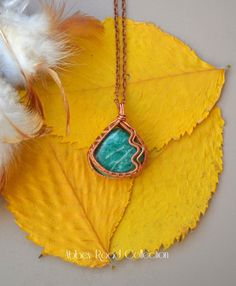 Amazonite Reversible Pyramid Wire Wrapped by AbbeyRoadCollection
