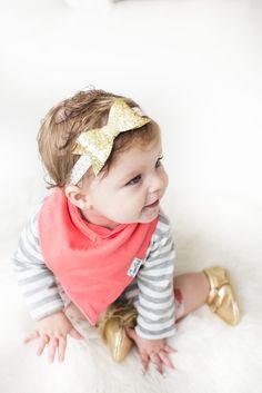 Baby Bandana Bibs - Jewel - Copper Pearl - 3