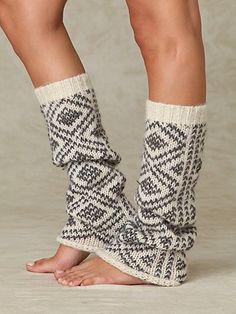 knit leg warmers - boot socks