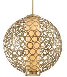 Golden Chain Link Jewelery Inspired Modern Pendant: Elegant, graceful, fresh, captivating