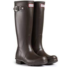 0584fbe7c2f280 Hunter Original Tall Damen Fest Gummistiefel Wellington Boots - Braun - 36  - http