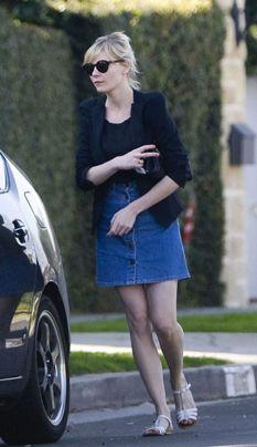 Simplicity in a denim skirt