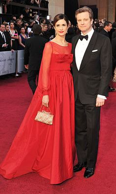 Livia Firth & Mr. Darcy aka Colin. #oscars