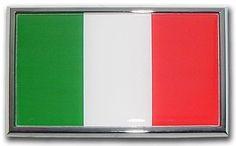 Italian Flag Car Emblem Car Size