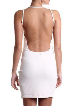 COLCCI Vestido Sem Mangas Branco - costas