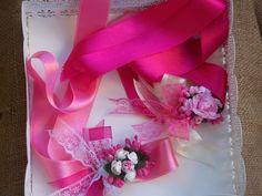 pembe nedime bileklikleri / The pink bridesmaid wrist
