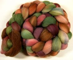 Fallen Apples 1 Falkland Wool Top for spinning and by yarnwench, $15.75