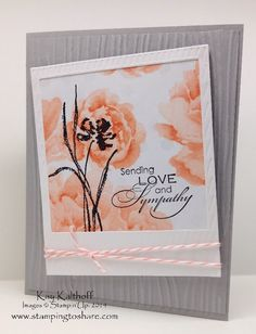 Stamping to Share: Love & Sympathy with an On Film Framelit Die - Plus a How To Video-8:59 mins  I used an On Film frame lit die cut out to create this lovely sympathy card.The stamp set is called Love and Sympathy and it worked great stamped right over the top of a piece of Watercolor Wonder Designer Series Paper.