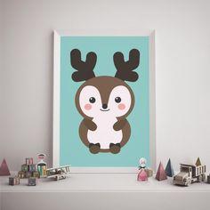 cute deer woodland a