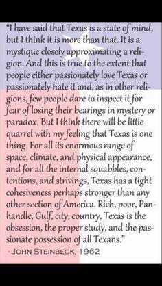 Texas according to John Steinbeck