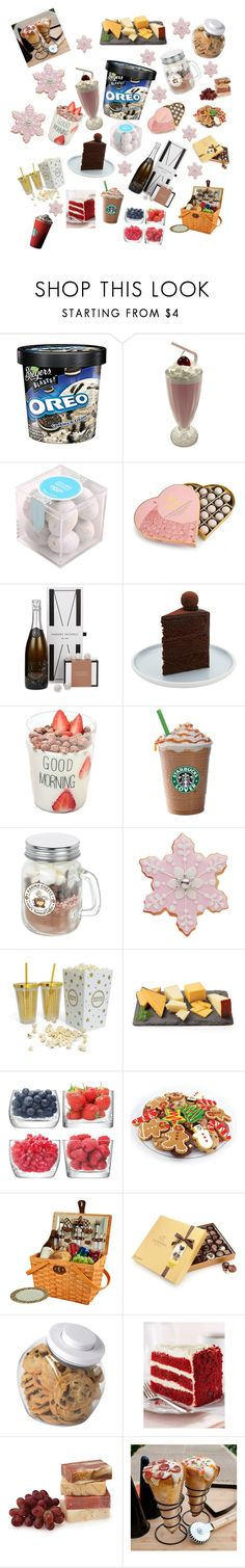 """""""Food 😋😋"""" by lepurush ❤ liked on Polyvore featuring sugarfina, Charbonnel et Walker, LSA International, Picnic at Ascot, Diptyque, OXO, Allen Brothers and Improvements"""