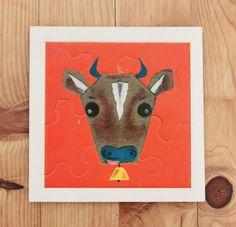 """puzzle Fernand Nathan """"la vache"""""""