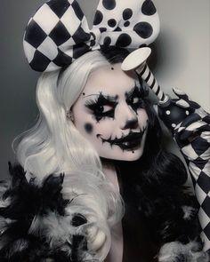Goth Makeup, Clown Makeup, Dark Makeup, Makeup Art, Black Face Makeup, Exotic Makeup, Unique Makeup, Creative Makeup Looks, Cosplay Makeup
