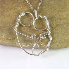 The Doula Solid Silver Abstract Wire Pendant