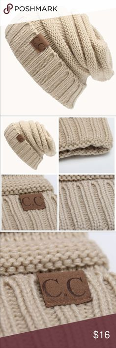 C.C. Cream Slouch Beanie NWT C.C. Cream Slouch beanie. Perfect for this weather and so cute ❄️☃️ Accessories Hats