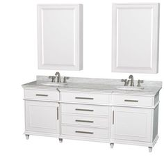 Photo Album Gallery Wyndham Collection Deborah inch Double Bathroom Vanity with inch Mirrors by Wyndham Collection Bathroom vanities Double bathroom vanities and