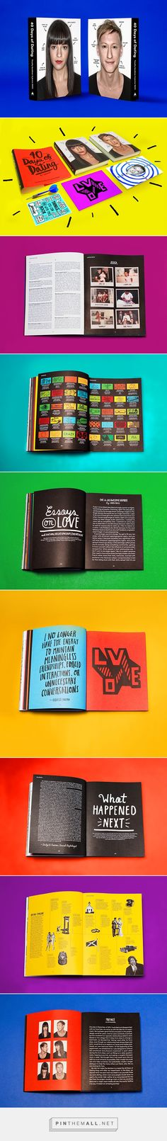 40 Days of Dating Book on Behance - created via http://pinthemall.net