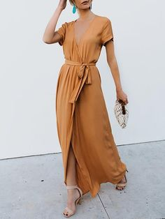5d63c8d703 A-line Cotton Elegant Short Sleeve Summer Dress. Elegant Summer DressesLong  ...