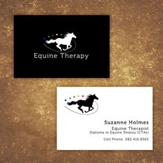 Business Card Design for Equine Therapy Professional on Behance