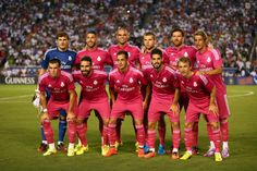 Real Madrid poses for a phot before a Guinness International Champions Cup 2014 game at Cotton Bowl on July 29, 2014 in Dallas, Texas.