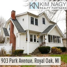 Just Listed | 903 Park Avenue. Royal Oak, MI  The perfect blend of period character and modern updates on a huge corner lot! Enclosed front porch welcomes you in to stunning living room boasting natural fireplace with built-ins and perfectly preserved wall sconces. Arched doorway frames the dining room with built-in china cabinet and leads to the updated kitchen with sparkling granite counters. Attached solarium will be your favorite room in the house, conveniently heated and