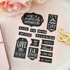 Vintage Chalkboard Stickers, set of 100 – The White Pad