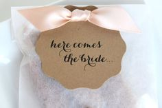 50 Best Bridal Shower Favor Ideas: here comes the bride caramel favors (by the caramel jar)