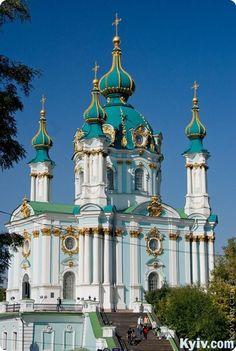 Saint Andrew's Church in Kyiv, Ukraine's capital city.