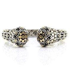 John hardy Jaisalmer Kick Cuff Bracelet in Sterling Silver & 18K Yellow Gold