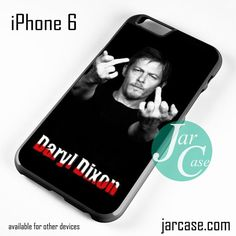 Norman Rreedus as Daryl Dixon Middle Finger - Z Phone case for iPhone 6 and other iPhone devices