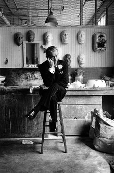 """James Dean in Costume at the studio of """"GIANTS"""""""