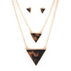 Double Tortoise Triangle Necklace at www.capricci.nl