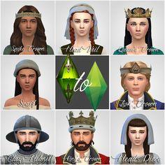 TSM to TS4: Crowns & Hats & Helmet   History Lover's Sims Blog