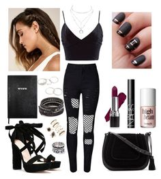 """""""outfit"""" by kwharmony on Polyvore featuring ASOS, WithChic, Charlotte Russe, Nasty Gal, LULUS, Vince Camuto, Avon, NARS Cosmetics, Benefit and Sloane Stationery"""