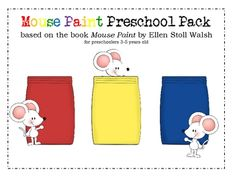 Mouse Paint Preschool Pack